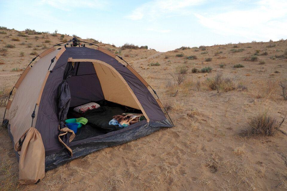 Zelten in den Dünen