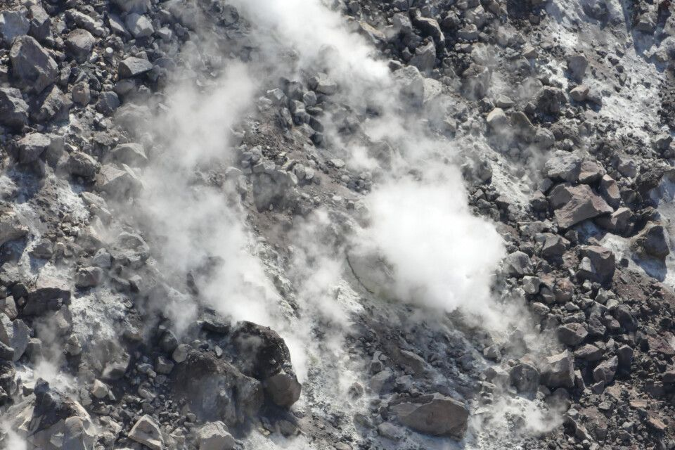Im Krater des Gorely-Vulkans
