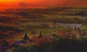 Pagodenlandschaft in Myanmar