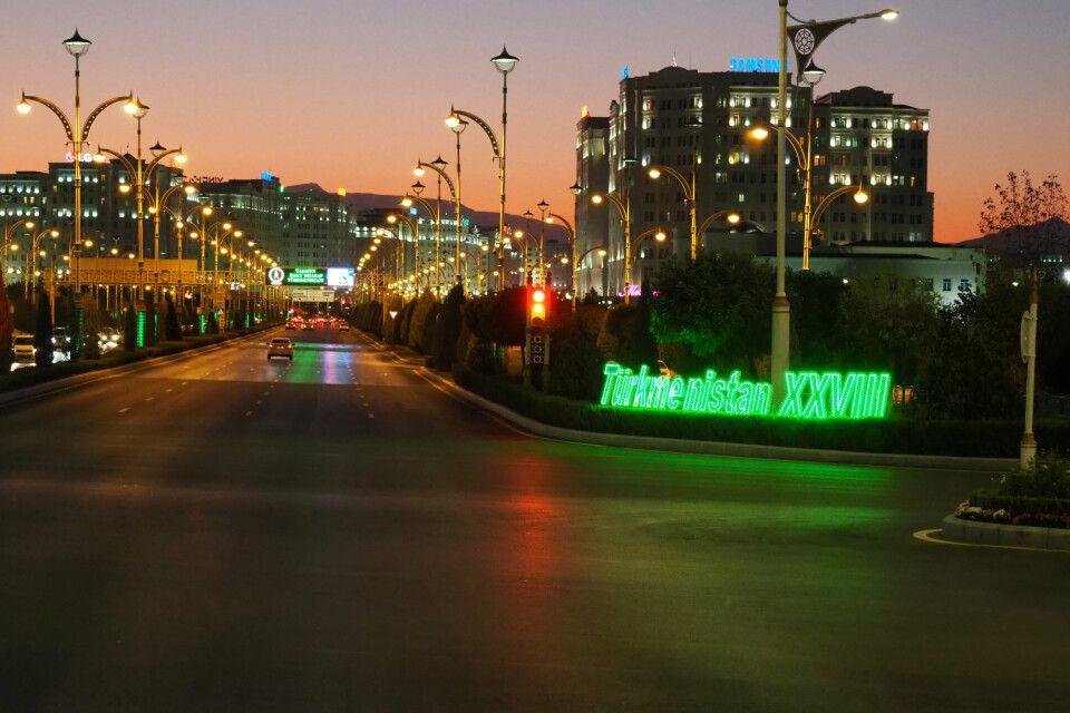 Abends in Ashgabat