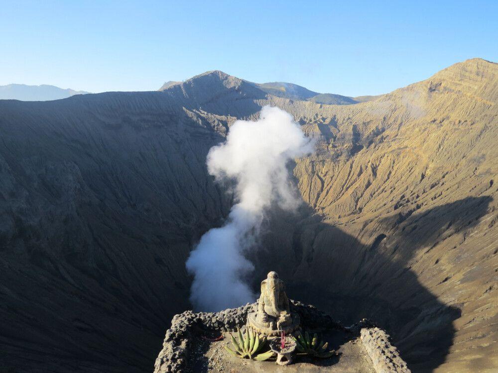 Blick über den Krater des Mt. Bromo