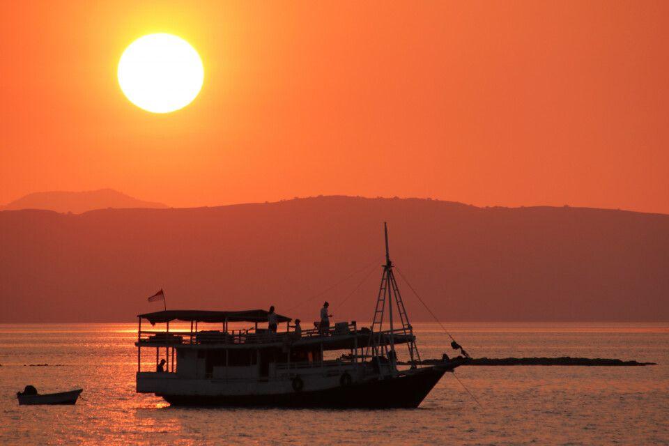 Sonnenuntergang im Komodo-Nationalpark