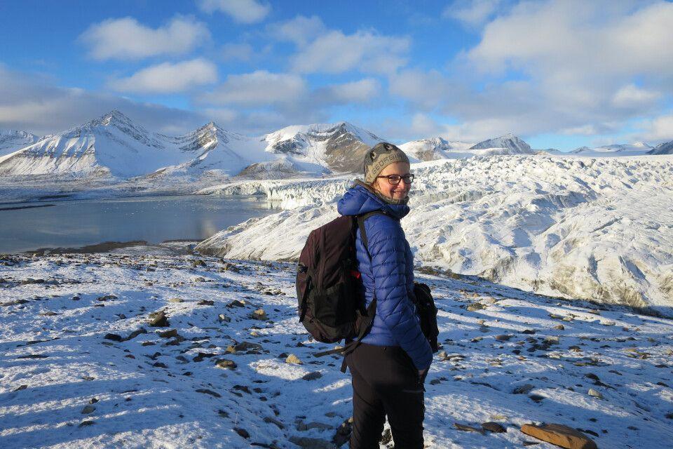 Am Esmark-Gletscher in Zentralspitzbergen