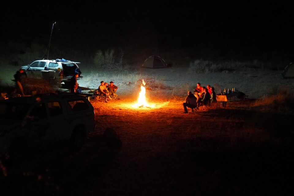 Abend im Yangisuw Canyon