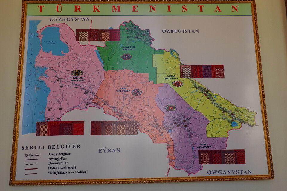 Turkmenistan in der Übersicht