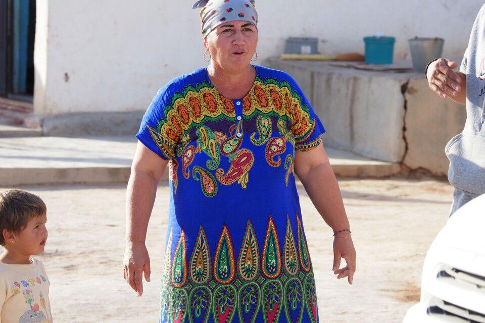 Turkmenin in Melegoc mitten in der Karakum Wüste