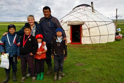 Familienbild am Sonkul