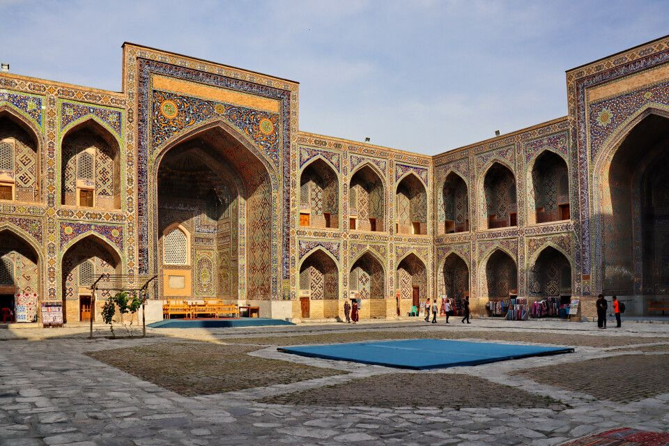 Im Registan in Samarkand