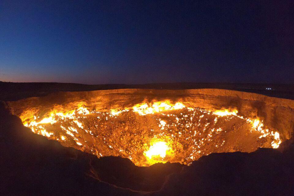 Der brennende Gaskrater von Darwaza