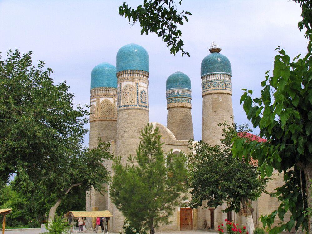 Das Torgebäude Chor Minor in Buchara