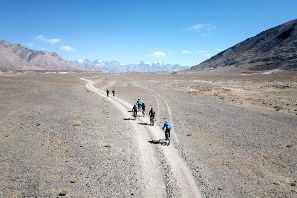Die hochebene im östlichen Pamir