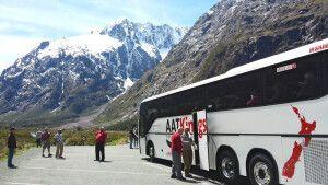AAT Kings Busfahrt durch die Bergwelt Neuseelands
