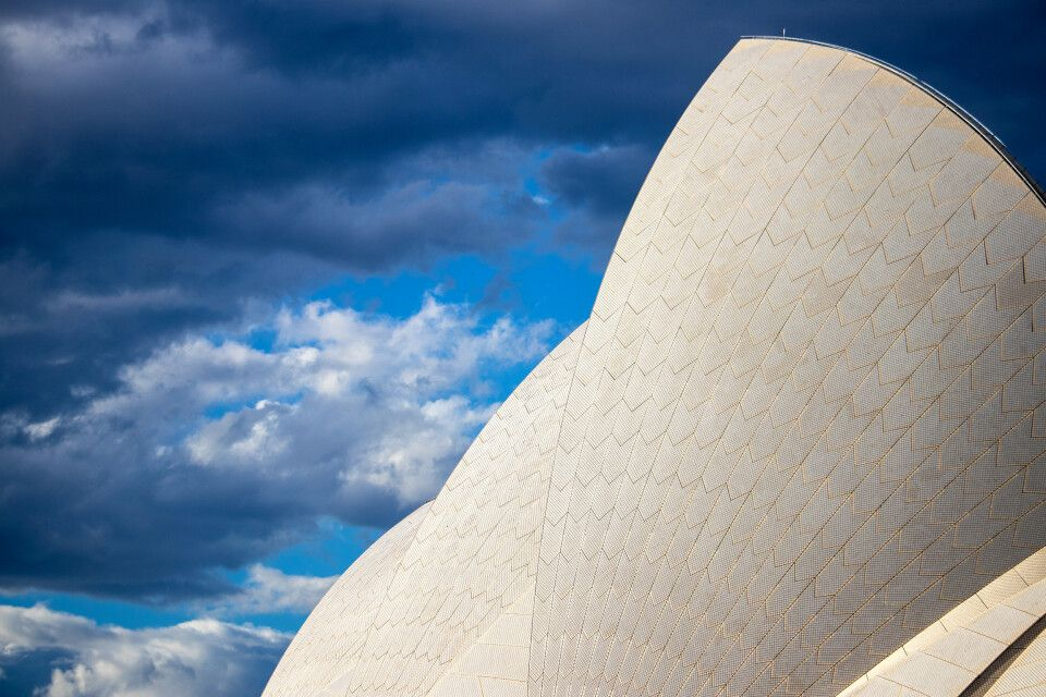 Detail der Oper in Sydney