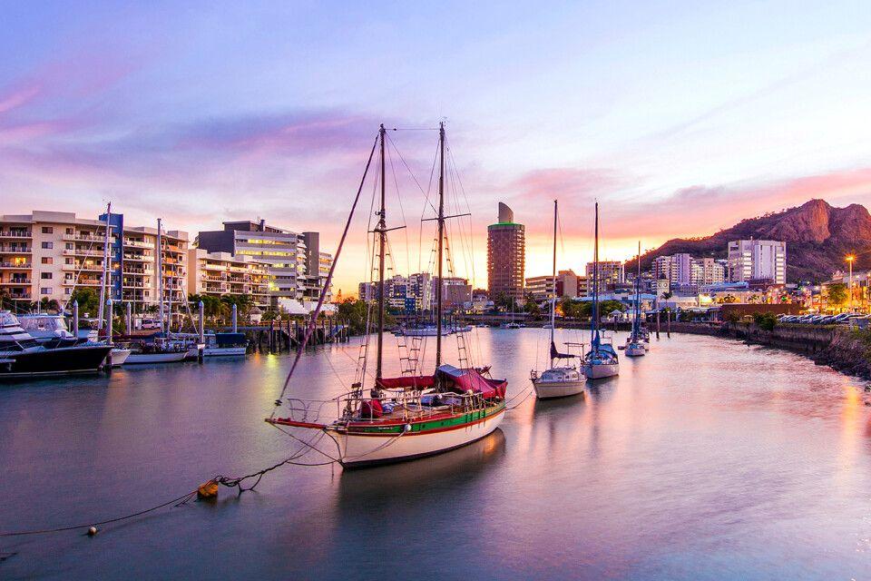 Blick auf Townsville in Australien