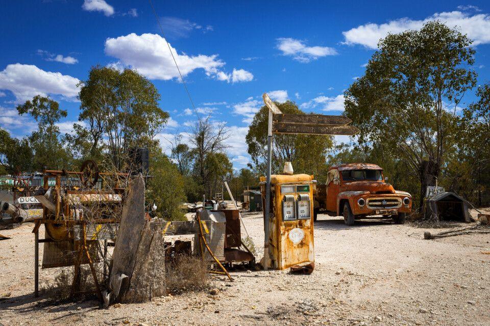 Idyllische Szene irgendwo im Outback