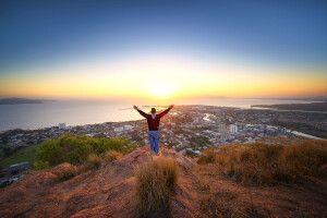 Blick auf Townsville im nördlichen Queensland an der Ostküste Australiens