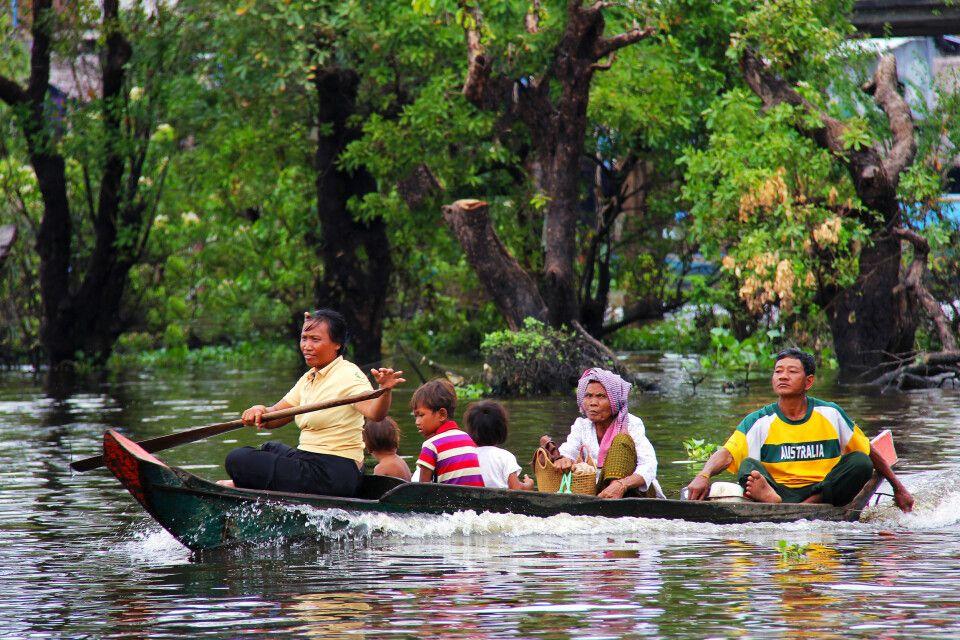 Unterwegs auf dem See Tonle Sap