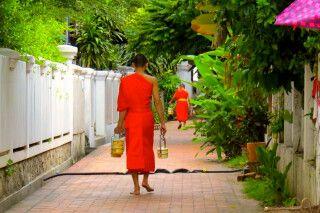 In den kleinen Gassen von Luang Prabang