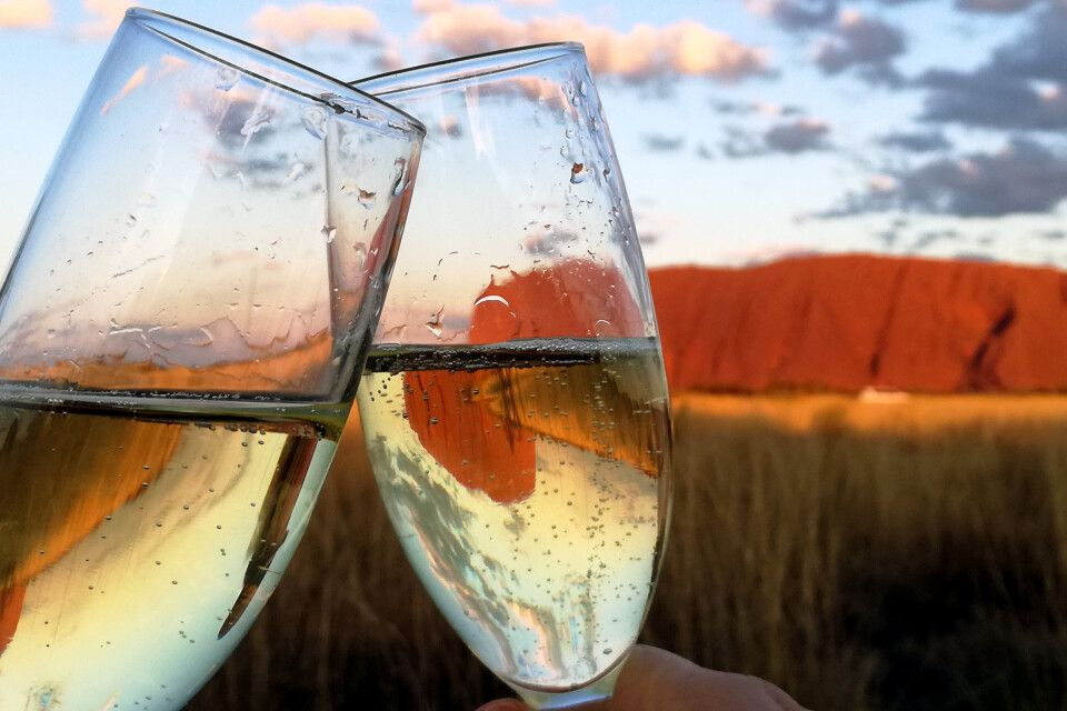 Zum Sonnenuntergang am Uluru
