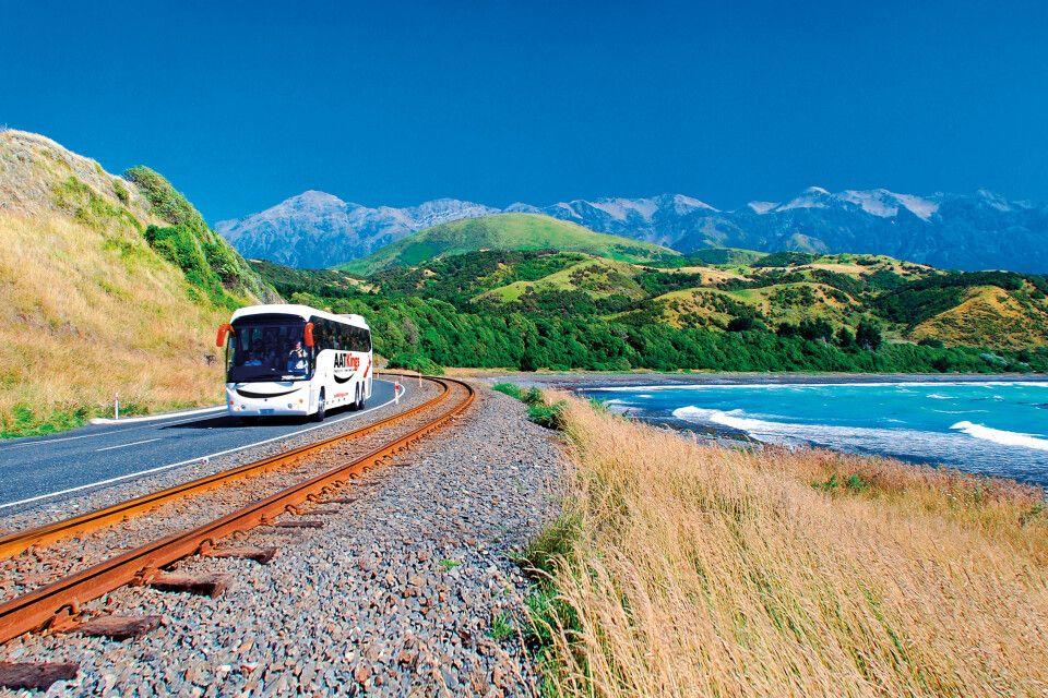 AAT Kings Busfahrt durch Neuseeland