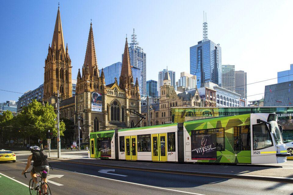 Die Pauluskathedrale (St Paul's Cathedral) in Melbourne