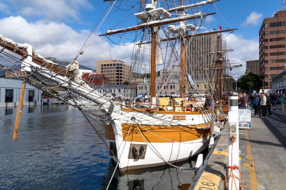 Hafenbecken von Hobart, Tasmanien