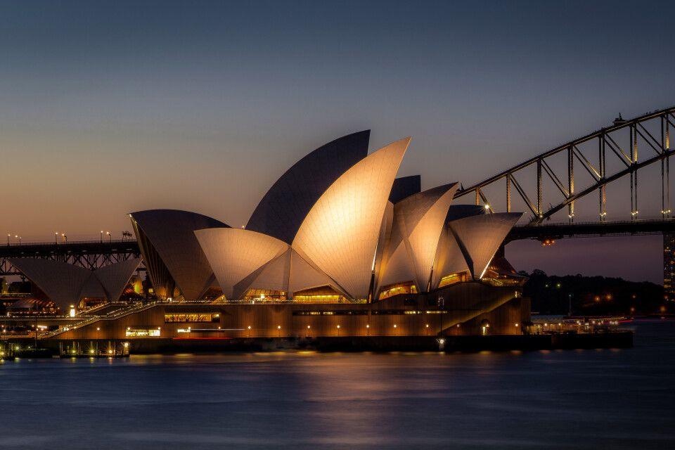 Die Oper in Sydney am Abend