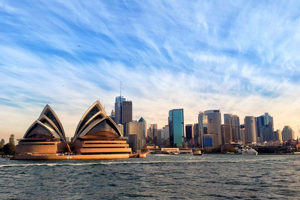 Blick auf die Oper in Sydney