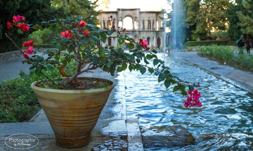 In Mahan die terrassenförmigen Gärten des Schahs