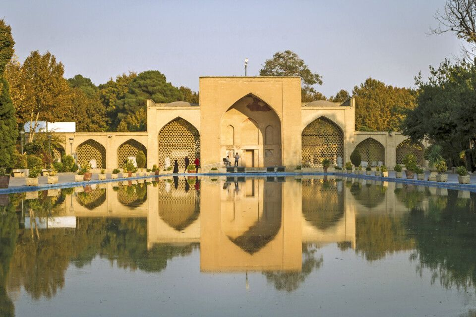 Eingang zum Gartenpalast Tschehel Sotun in Isfahan