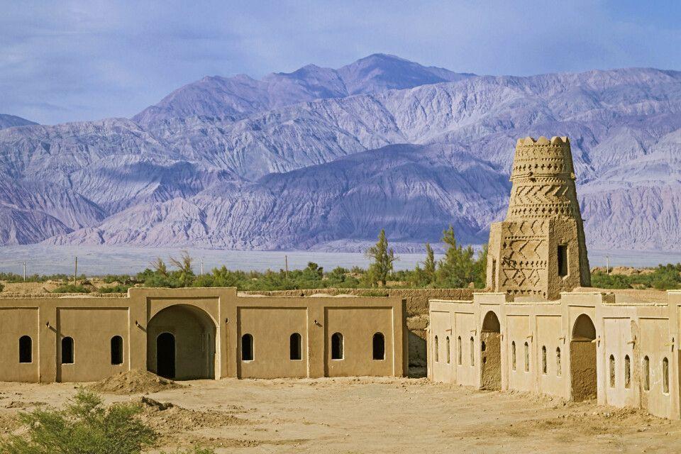 aus Lehmziegel erbaute Festungsstadt in Rayen