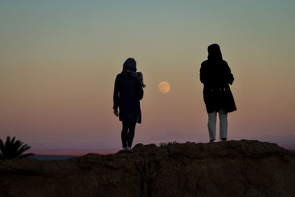 Mondaufgang nahe dem Dorf Kharanagh