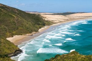 Idyllischer Strand am Cape Reinga, Nordinsel, Northland