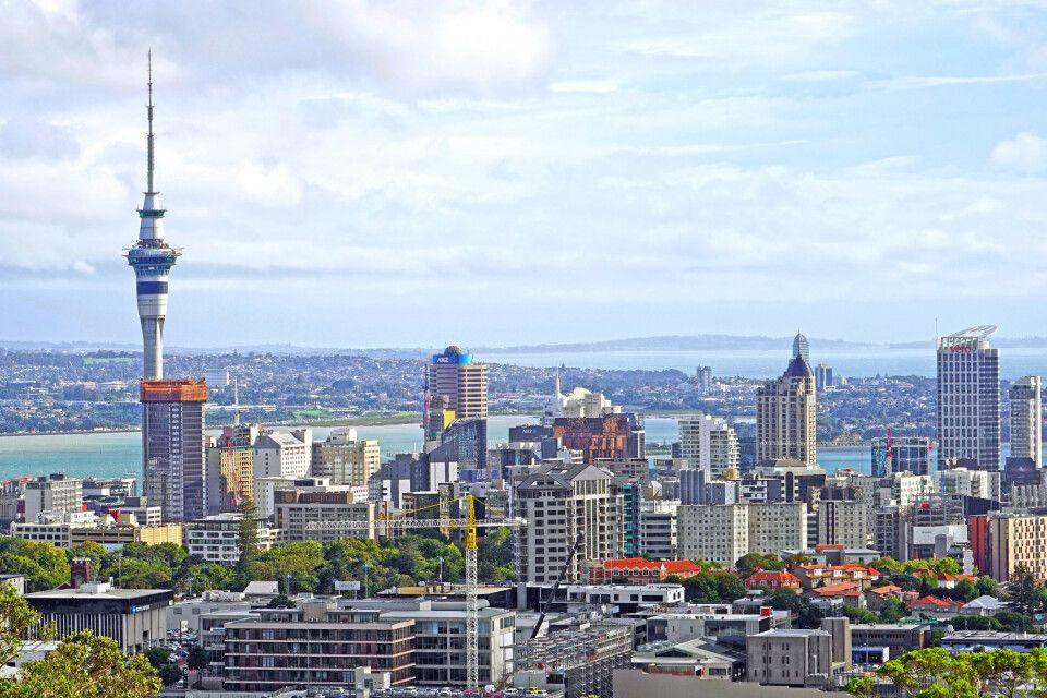 Die Skyline Aucklands