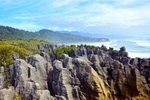 Die Pancake Rocks im Westen der Südinsel