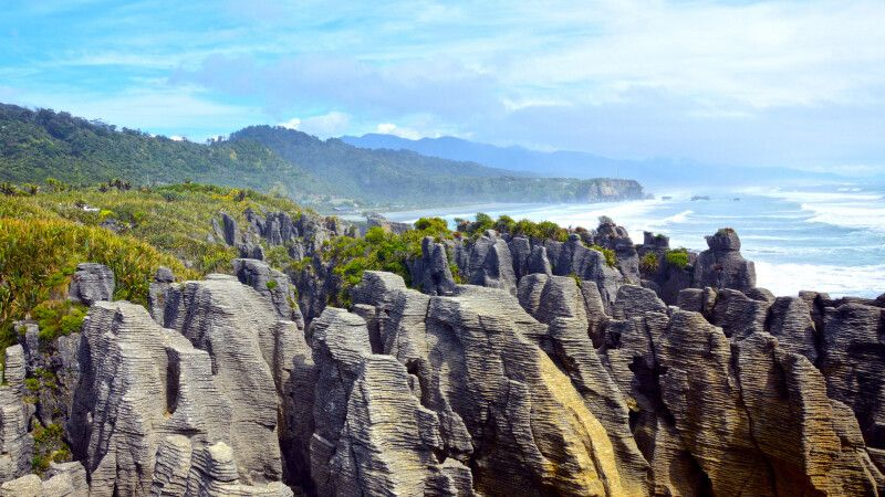 Die Pancake Rocks im Westen der Südinsel © Diamir