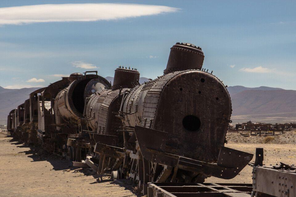 Zug in der Atacama Wüste
