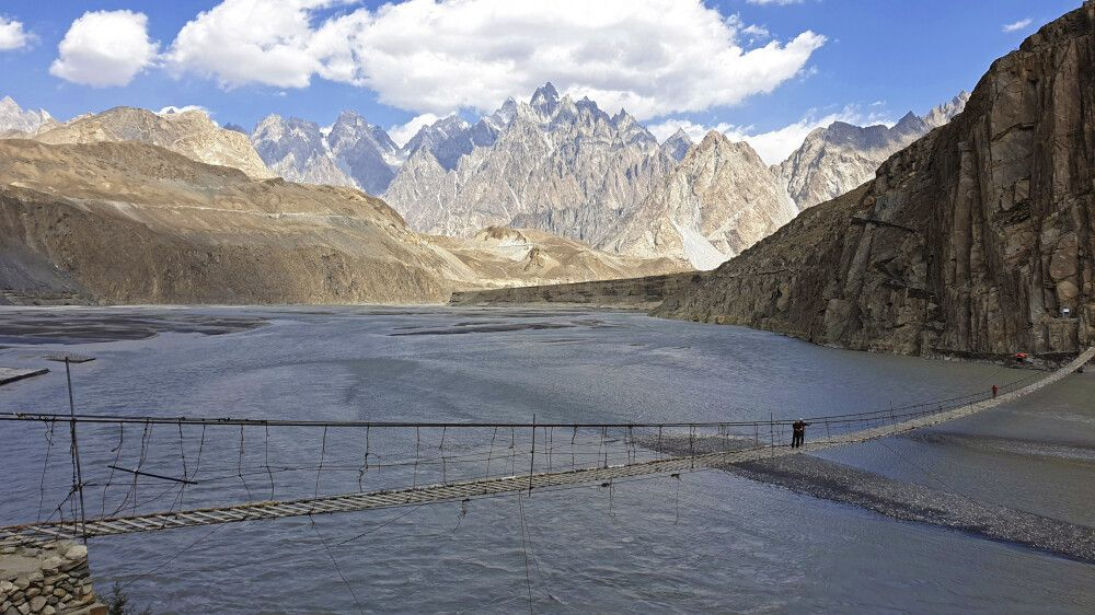 Hängebrücke in Passu Pakistan