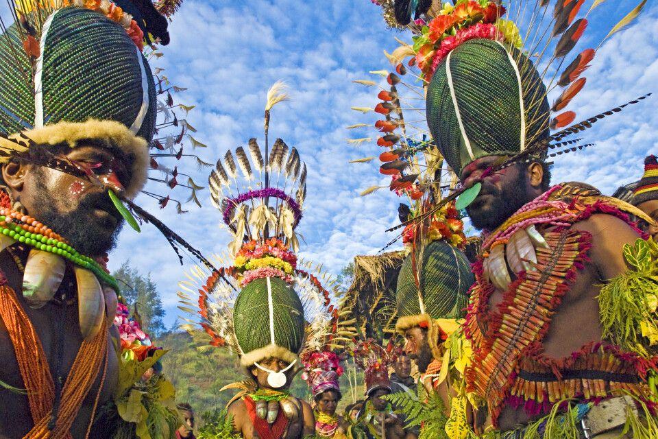 farbenprächtige Kostümierung beim Kalam-Festival