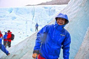Gute Laune auf dem Franz-Josepf-Gletscher