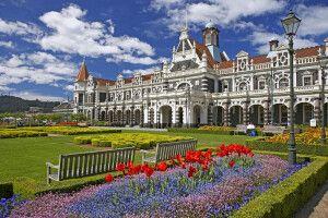 Der historische Bahnhof in Dunedin
