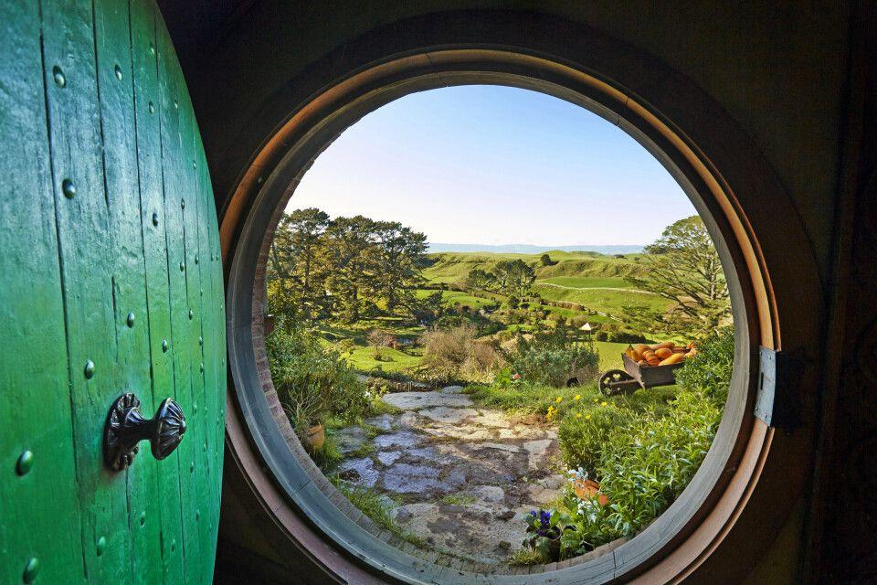 Ausblick aus dem Hobbiton Matamata Waikato