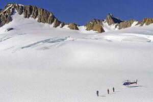 Mit dem Heli in die Gletscherwelt der Südalpen