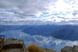 Der Lake Wakatipu aus der Höhe