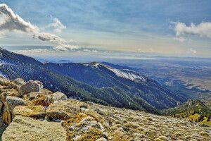 Landschaft in der Sierra Blanca, New Mexico