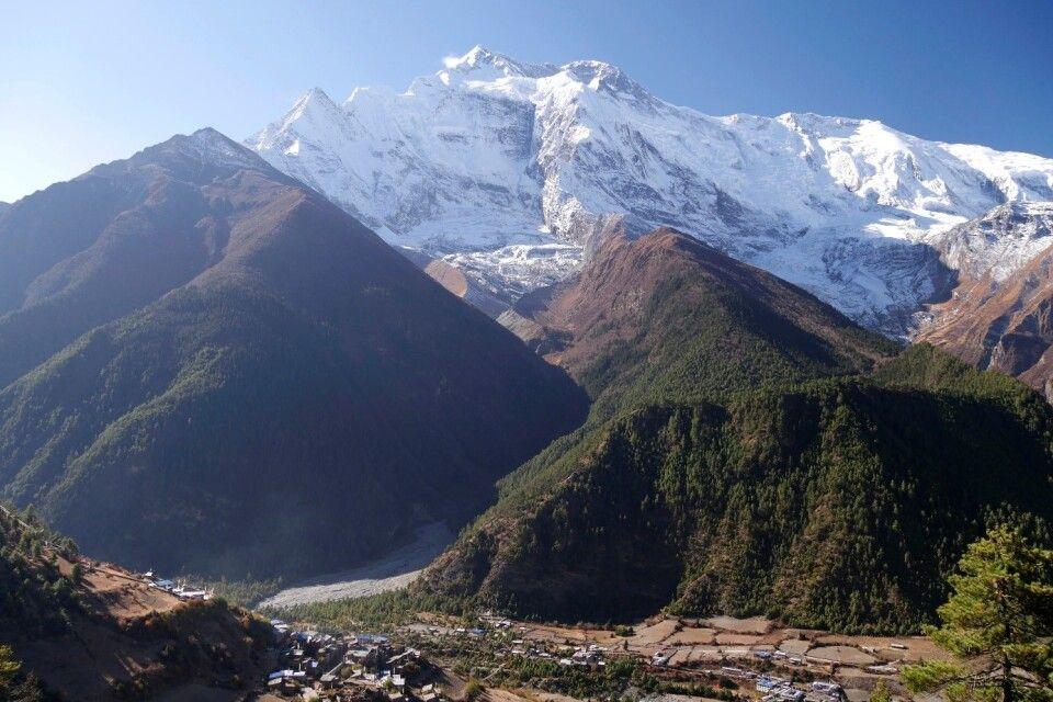 Blick auf die Annapurna II von Upper Pisang