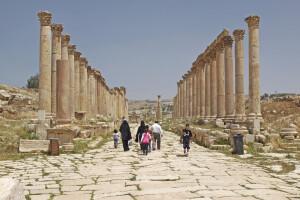 Die antike Stadt Gerasa (auch Jerasch