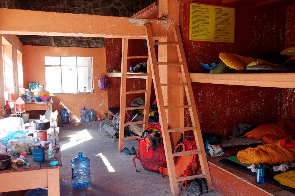 Die warme Berghütte am Orizaba läd zum Entspannen ein.