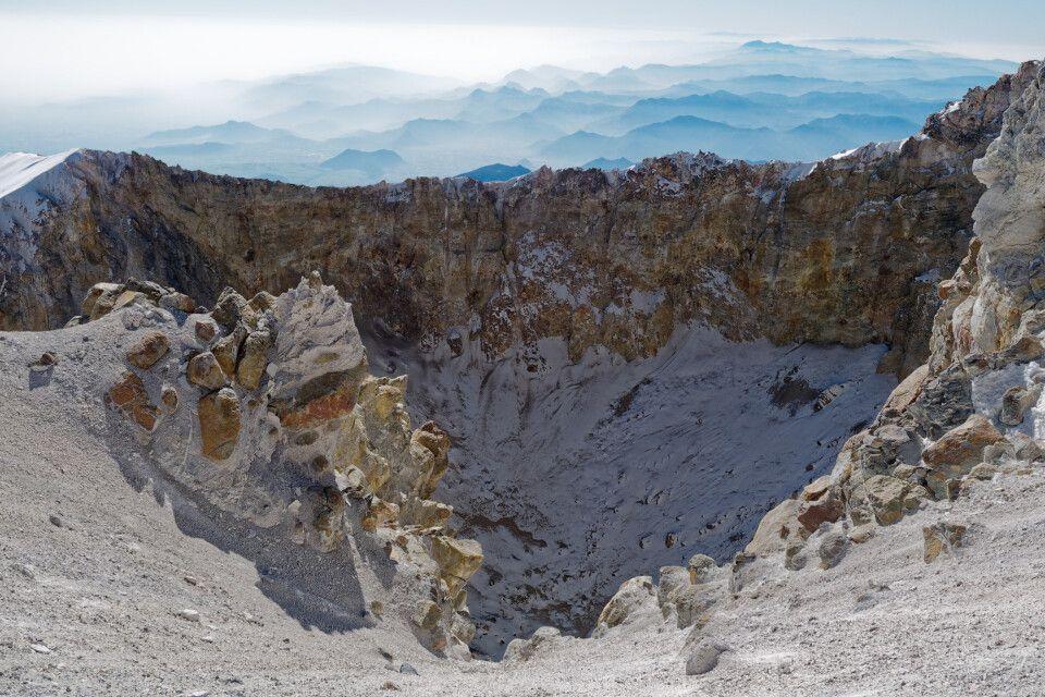 Der Krater vom höchsten Vulkan Mexikos.