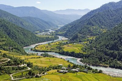 Tal des Mo Chhu bei Punakha